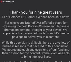 Eliminan DramaFever de manera inmediata
