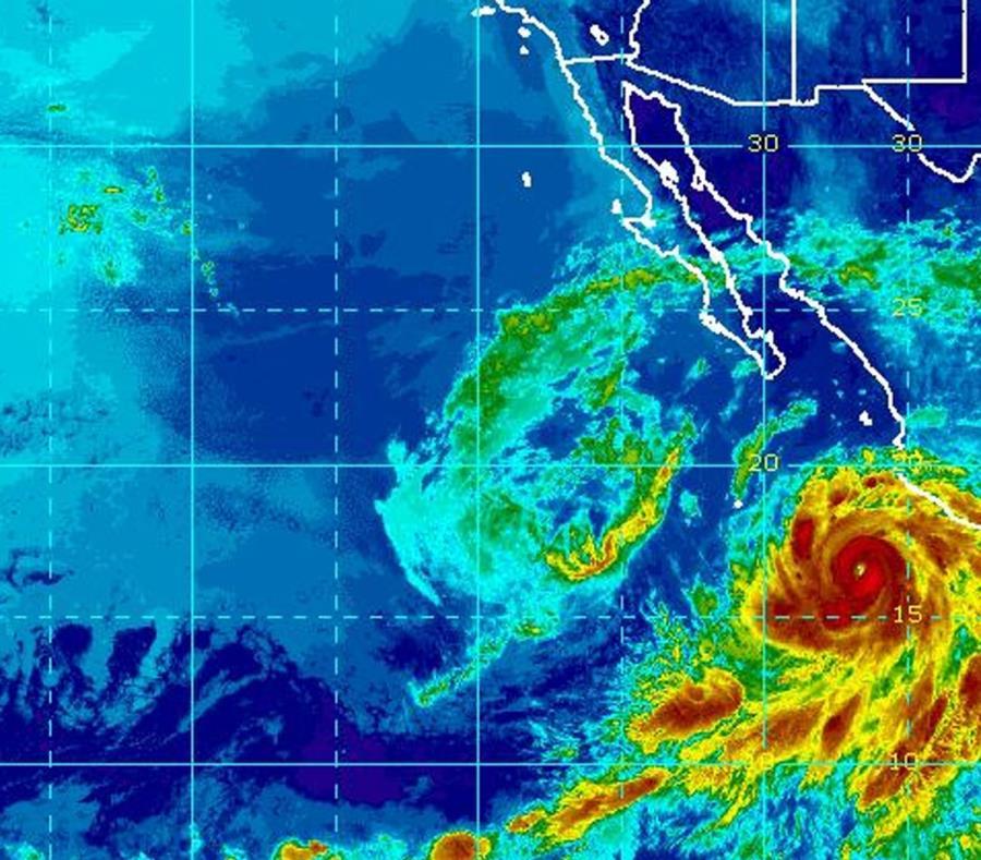 Imagen de satélite del huracán Bud y de la tormenta tropical Aletta. (Captura / NOAA) (semisquare-x3)