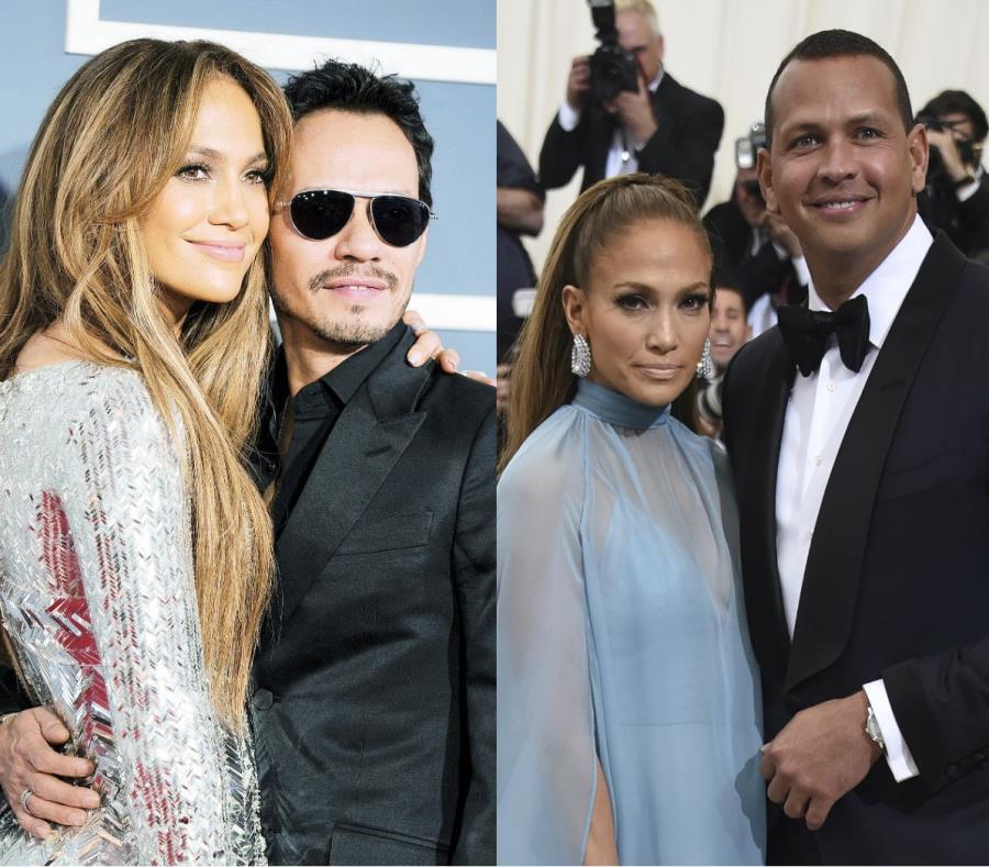 J.Lo y ARod comparten con Marc Anthony como familia