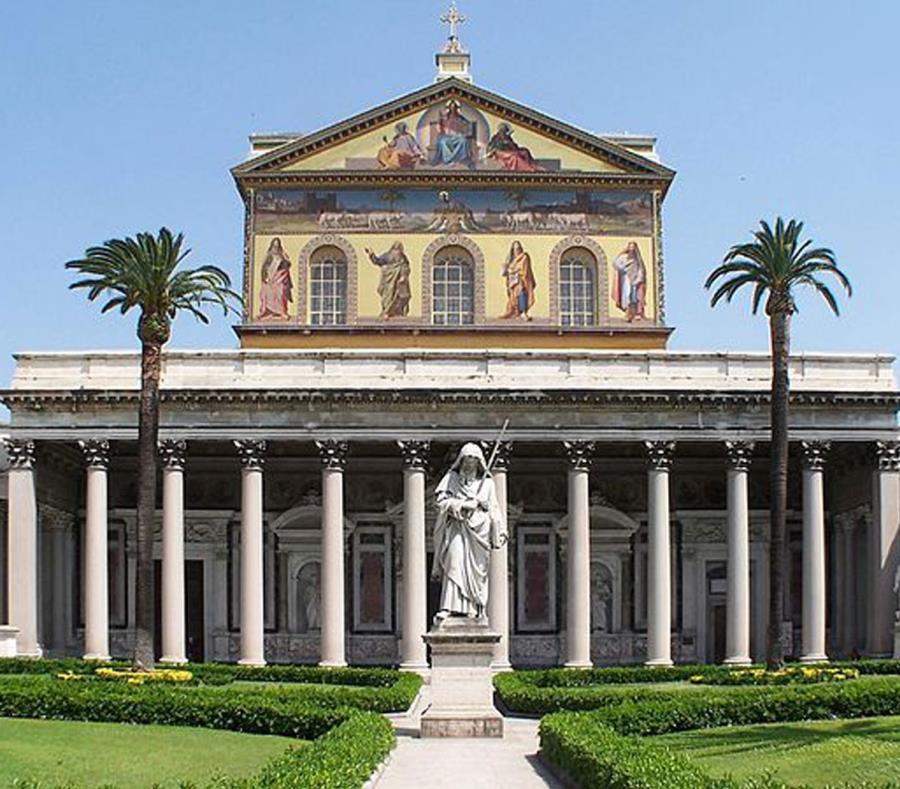 Imagen de la basílica San Pablo, en Roma. (GFR Media) (semisquare-x3)