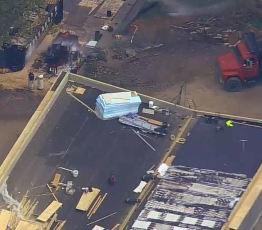 Los tanques que explotaron estaban en un área de construcción. (Captura de ABC) (semisquare-x3)