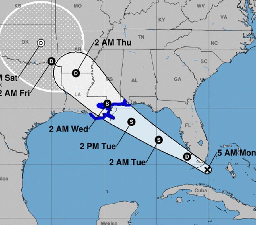 La tormenta tropical Gordon llegó a la costa de Estados Unidos