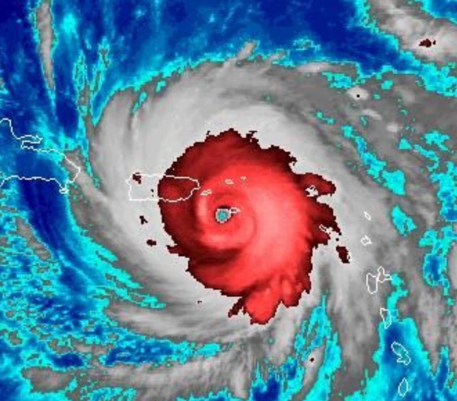 Imagen de satélite del huracán María antes de hacer entrada en Puerto Rico. (Captura / NOAA) (semisquare-x3)
