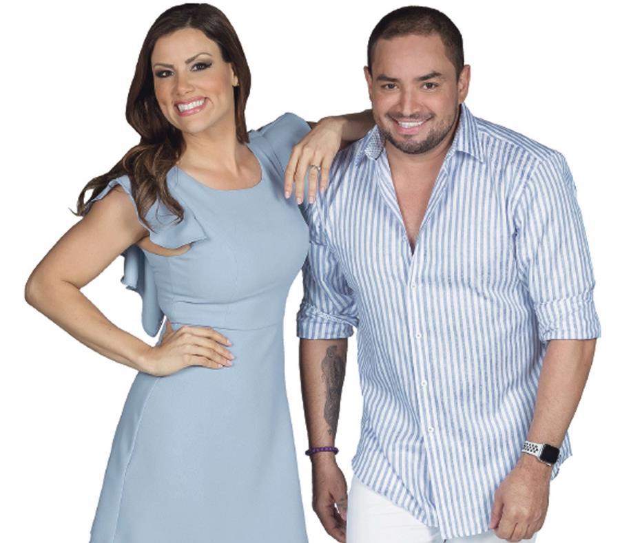Shanira Blanco y Manny Manuel son los animadores del espacio televisivo