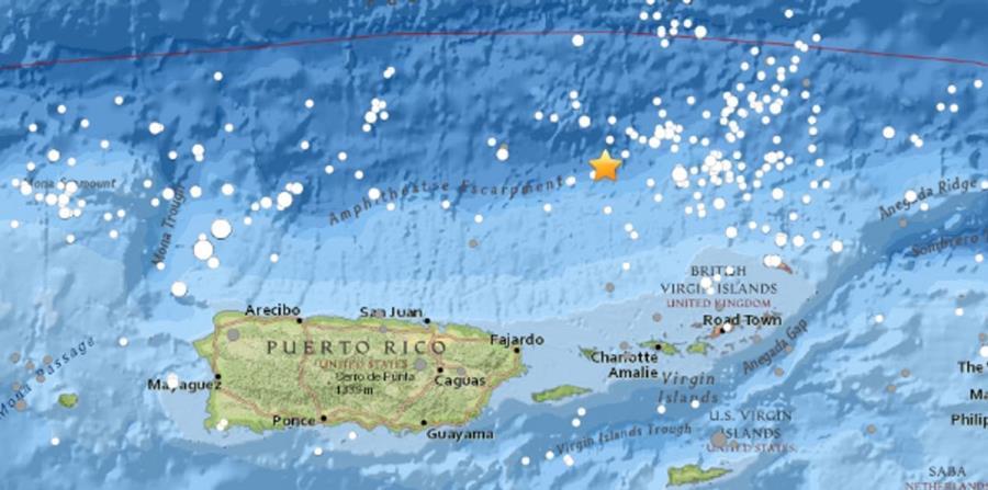 Image result for Se reporta sismo de magnitud 4.2 al noreste de Puerto Rico