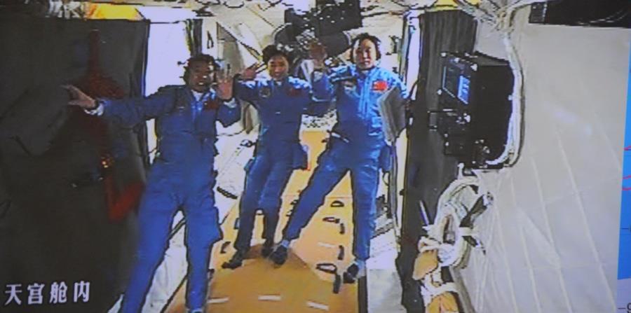 China ya tiene su propia estación espacial, donde han permanecido por varias semanas entre dos y tres cosmonautas de ese país. (horizontal-x3)