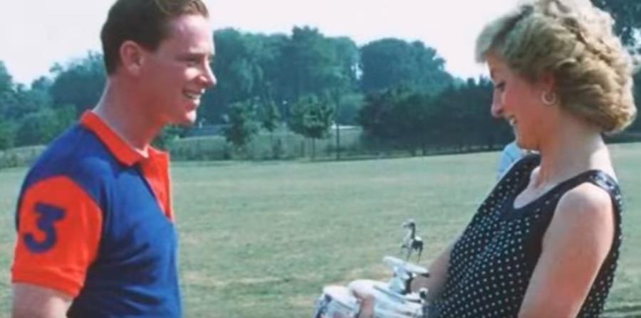 James Hewitt junto a la princesa Diana. (horizontal-x3)