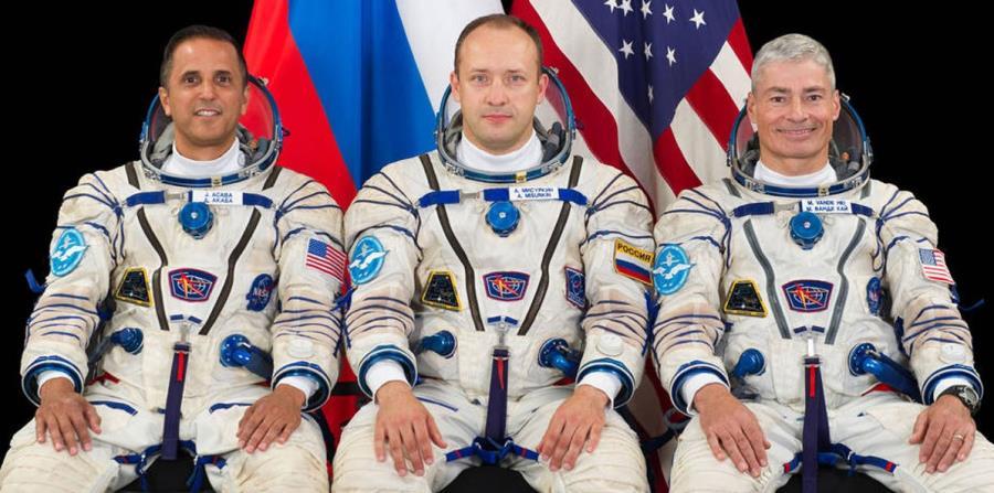 Acabá saldrá hacia el espacio junto a los astronautas Mark Vande Hei y Alexander Misurkin. (Captura / NASA) (horizontal-x3)