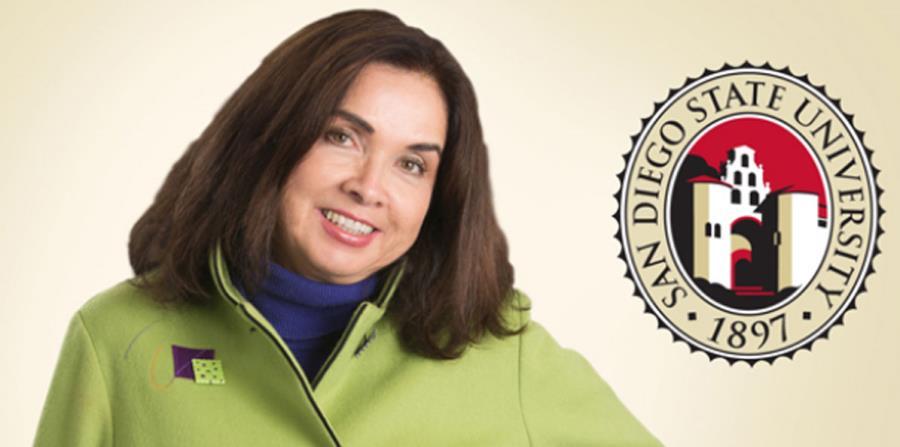 De la Torre, quien se desempeñó como vicerrectora de asuntos estudiantiles en la Universidad de California Davis, es una reconocida experta en temas de salud entre las comunidades latinas y chicanas. (Imagen capturada de la Universidad Estatal de San Dieg (horizontal-x3)