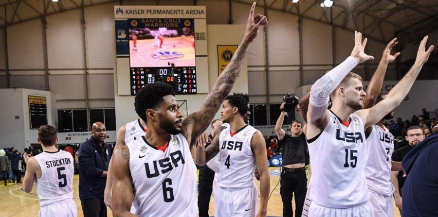 Estados Unidos le ganó esta madrugada a Puerto Rico, con marcador 83-75. (Captura / Twitter FIBA) (horizontal-x3)