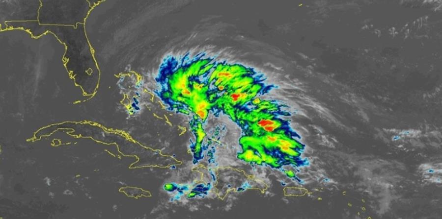 Imagen de satélite de la baja presión que se encamina hacia Florida. (Captura / NOAA) (horizontal-x3)