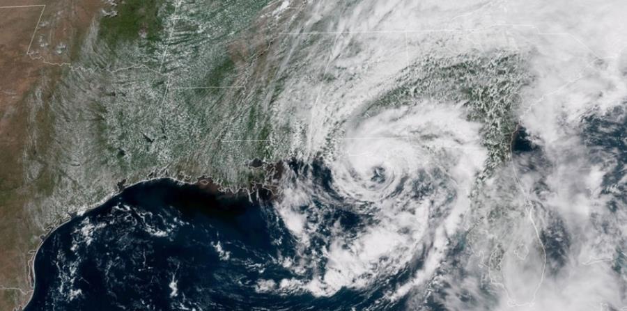 Imagen del satélite espacial Goes16 de la tormenta subtropical Alberto. (Captura / NOAA) (horizontal-x3)