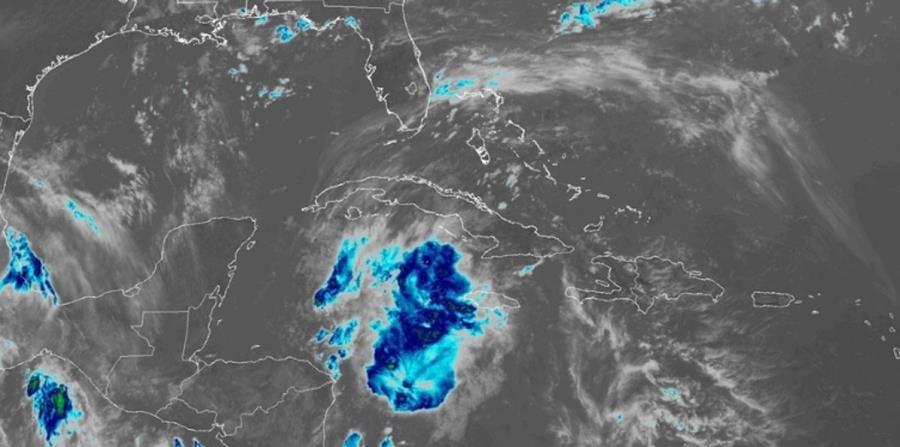 Imagen de satélite de la baja presión. (Captura / NOAA) (horizontal-x3)