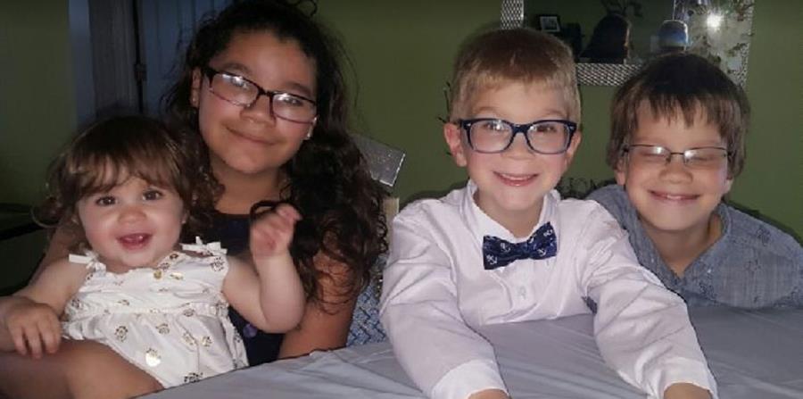 Los niños fueron identificados como Irayan López, de 12 años; Lillia López de 10; Aiden Lindsey, de 6 y Dove Lindsey de 22 meses. (horizontal-x3)