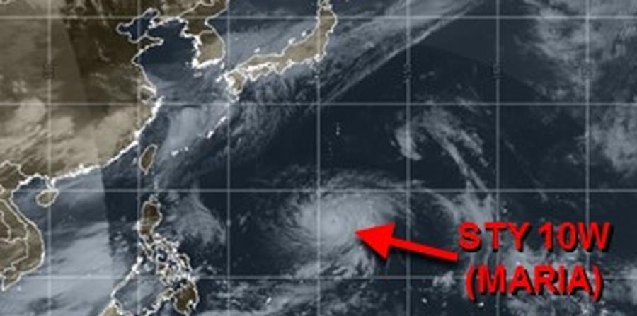 Imagen de satélite del supertifón María. (Captura / metoc.navy.mil) (horizontal-x3)