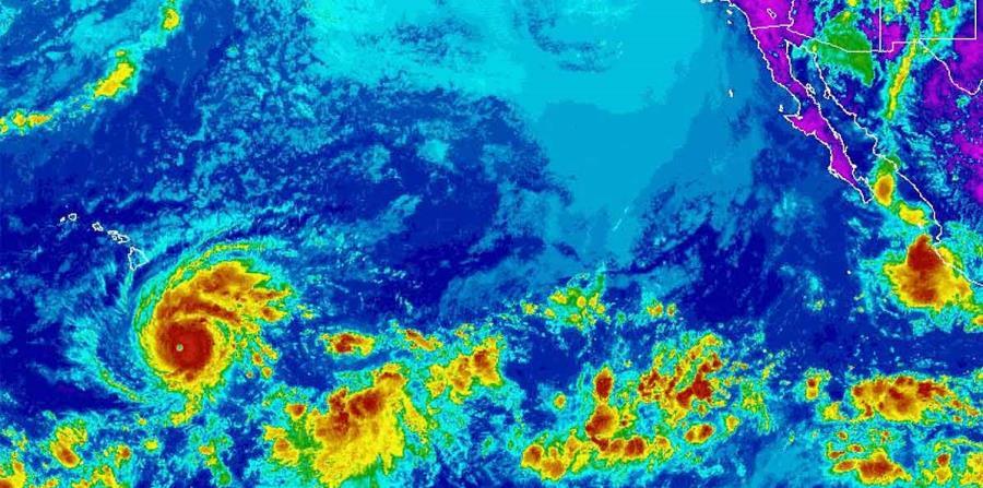 El huracán Lane es categoría 4.  (Imagen de la NOAA) (horizontal-x3)