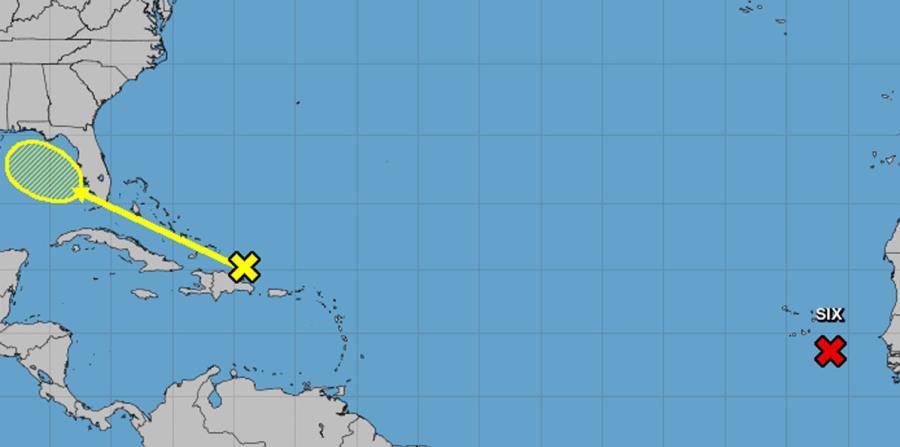 Mapa de trayectoria trazado por el Centro Nacional de Huracanes (NHC, en inglés). (Captura / NOAA) (horizontal-x3)