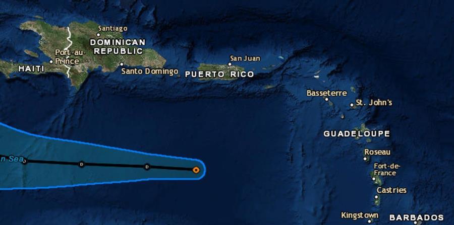 Mapa de trayectoria de la depresión tropical Isaac provisto por el Centro Nacional de Huracanes. (Captura / NOAA) (horizontal-x3)