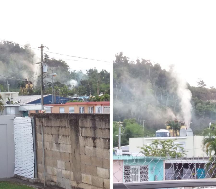 Presuntas emanaciones de gas desde una fábrica de asfalto en Toa Alta que afectan a la comunidad escolar. (Suministradas) (semisquare-x3)