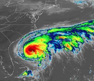 El huracán Humberto dejaría un fuerte oleaje en la costa sureste de Estados Unidos