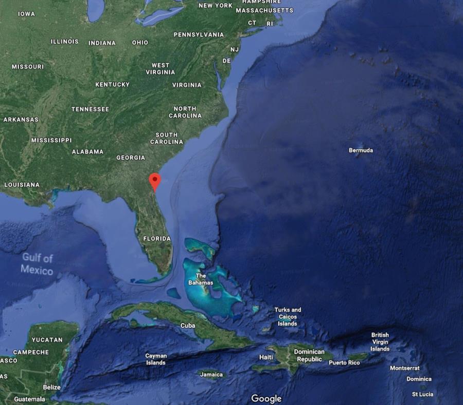 La avioneta envió una señal de auxilio al perder altitud cerca de Ponte Vedra Beach, en Florida. (Google) (semisquare-x3)