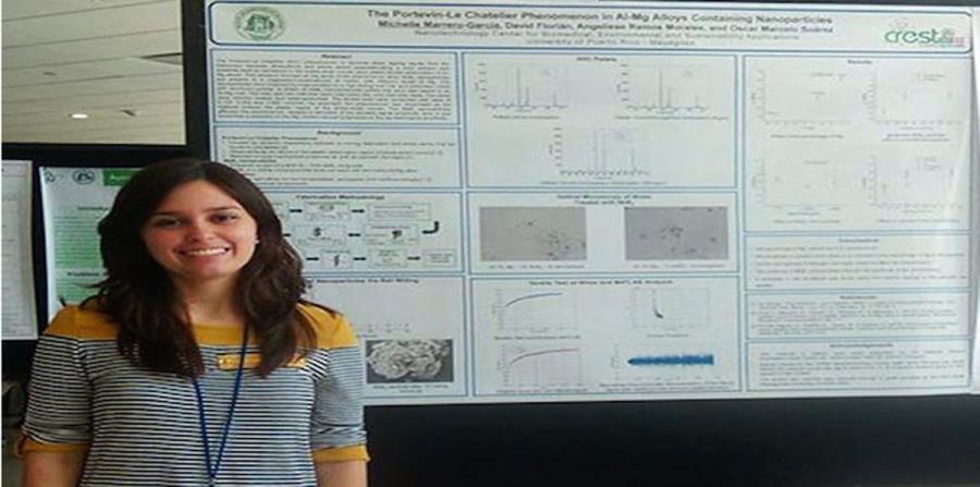 La investigación de Michelle Marrero García busca que los materiales usados en la manufactura de vehículos o aviones sean más resistentes a través de compuestos con nanopartículas. (Suministrada)