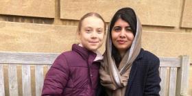 Greta Thunberg conoce a Malala Yousafzai en la Universidad de Oxford