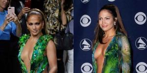 Jennifer López vuelve a sorprender con el vestido verde de Versace