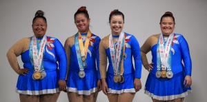 Gimnastas rítmicas comparten sus experiencias en los Juegos Mundiales de Olimpiadas Especiales