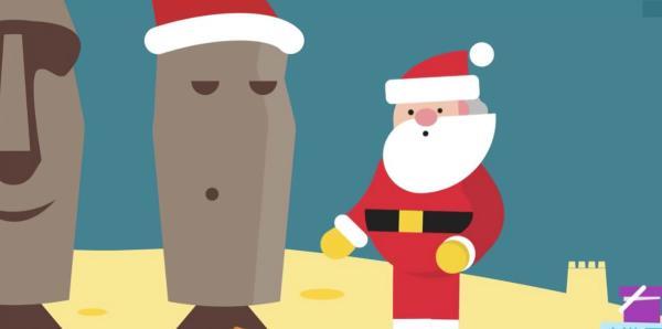 Google te lleva a un recorrido por la aldea virtual de Santa Claus