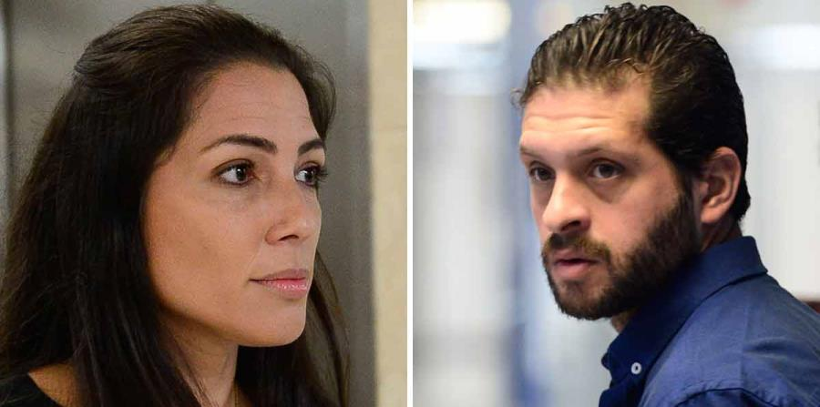 Alexandra Lúgaro y Edwin Domínguez Torres asistieron hoy al Tribunal de San Juan. (horizontal-x3)