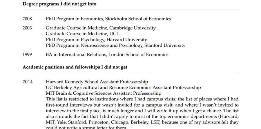 Profesor de Princeton publica currículum de fracasos | El Nuevo Día