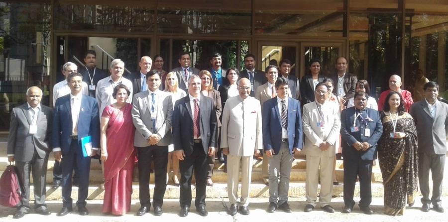 Delegación de la India, encabezada por su presidente Ram Nath Kovind, junto a funcionarios cubanos. (Captura / Facebook @cubadebate) (horizontal-x3)