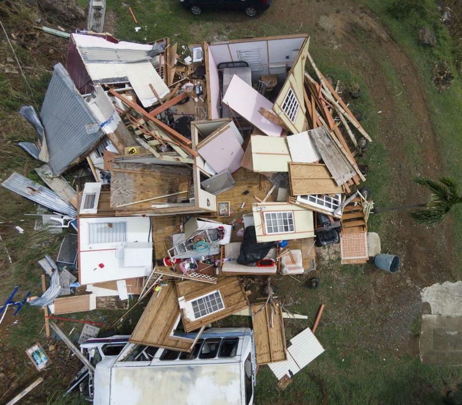 Una estructura destruida por el huracán María. (GFR Media) (semisquare-x3)