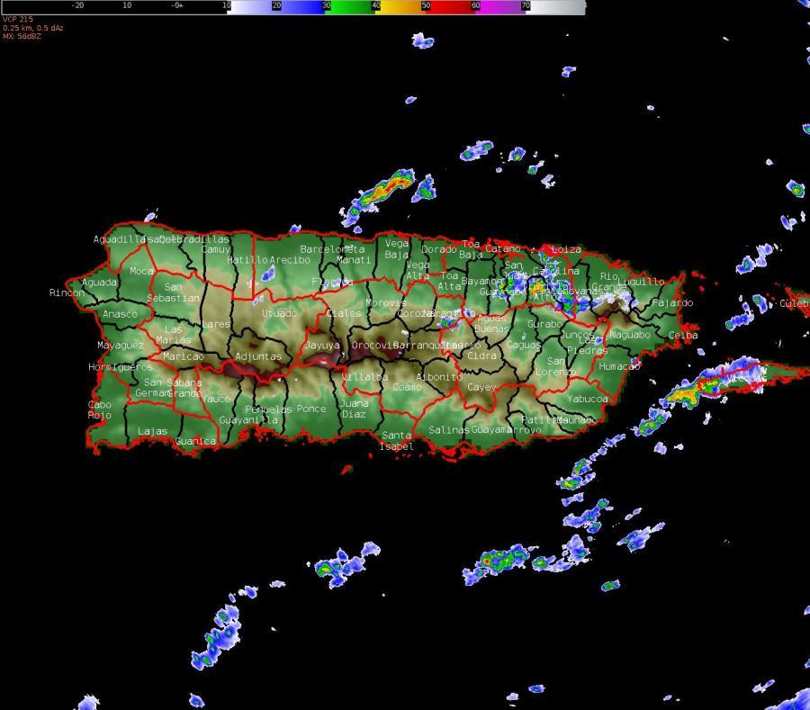 La probabilidad de precipitación para la tarde será de 55% (semisquare-x3)