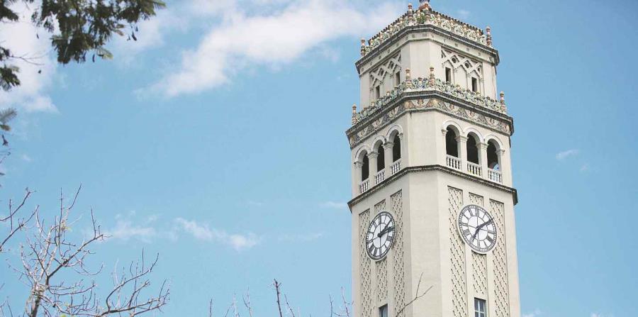 La torre de la Universidad de Puerto Rico, recinto de Río Piedras (horizontal-x3)