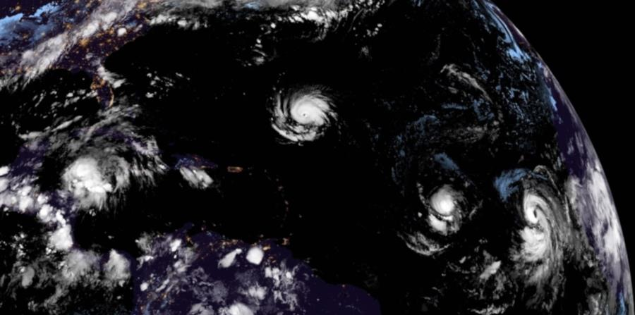 Según el pronóstico del boletín de las 11:00 a.m., Isaac estaría pasando el viernes como tormenta tropical al sur de la isla. (NOAA) (horizontal-x3)