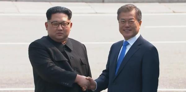 Histórico saludo entre las dos Coreas