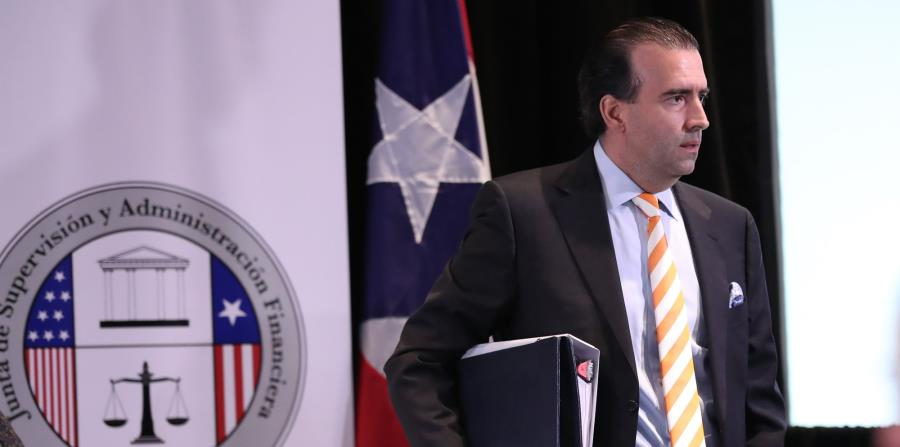 En la foto, el presidente de la Junta de Supervisión Fiscal, José Carrión III. (horizontal-x3)