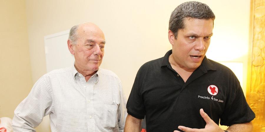 Eudaldo Báez Galib (izq.) sostuvo que otra opción que tendría Carmen Yulín Cruz Soto sería el crear una coalición, aunque actualmente esta acción está prohibida por la Ley Electoral.  (GFR Media) (horizontal-x3)