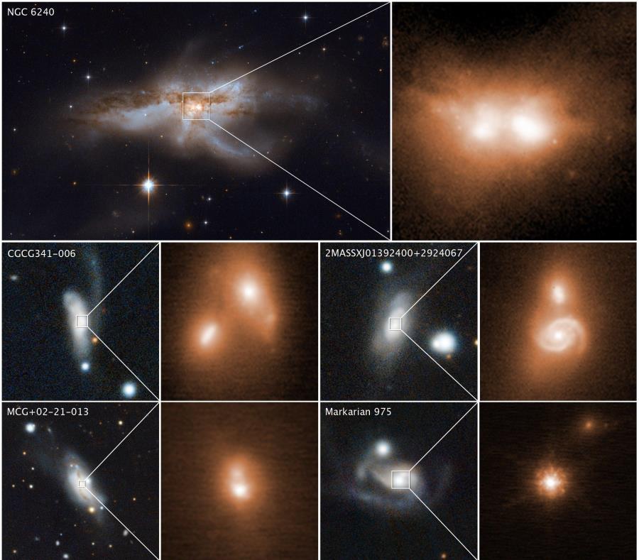 Un equipo de astrónomos, entre ellos algunos de Chile, ha encontrado una relación entre el choque de galaxias y la voracidad de los agujeros negros (semisquare-x3)