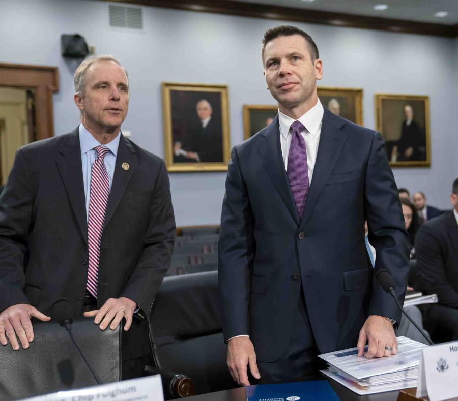 El secretario interino de Seguridad Nacional Kevin McAleenan ante una subcomisión de Asignaciones de la Cámara de Representantes sobre el financiamiento para su agencia, el martes 30 de abril de 2019 en el Capitolio, en Washington. (AP / J. Scott Applewhi (semisquare-x3)
