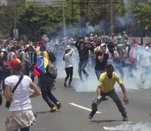 Sin miedo los estudiantes de Venezuela