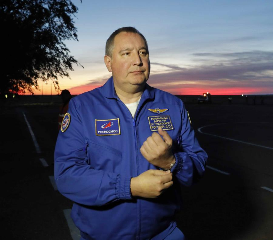 La agencia espacial de Rusia se quejó de que la invitación para que su jefe visite Estados Unidos fue cancelada sin que se informase a la organización. (Yuri Kochetkov/Pool Foto vía AP) (semisquare-x3)