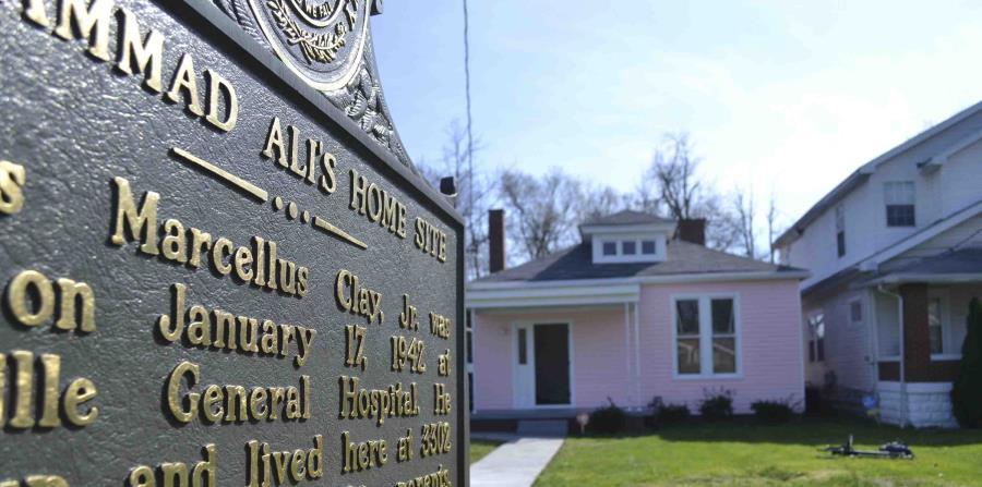 La casa donde creció Muhammad Ali en Louisville, Kentucky, abrió como un museo el 18 de marzo de 2016. (horizontal-x3)