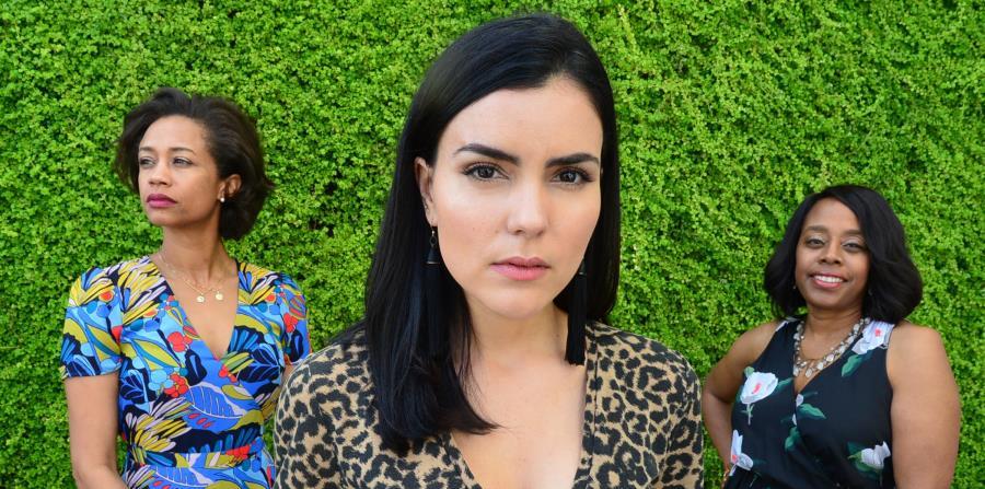 Desde la izquierda: Sherri Daye Scott, guionista y productora; Betsy Landín, productora asociada  y actriz; y  Deborah Riley Draper, directora del filme. (horizontal-x3)