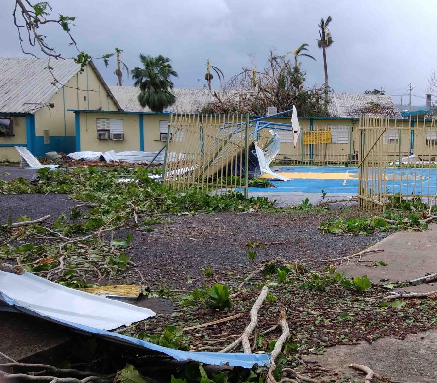 Destrozos que provocó el huracán María en la escuela vocacional República de Costa Rica, en Caguas. (GFR Media) (semisquare-x3)