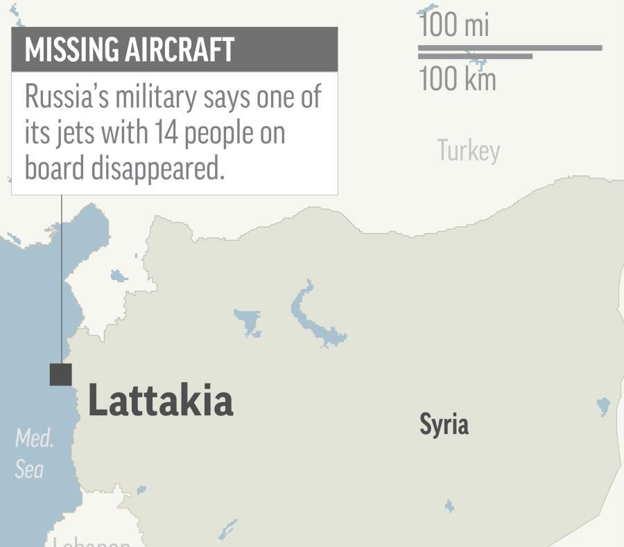 El mapa muestra el lugar donde el avión ruso fue derribado. (AP) (semisquare-x3)