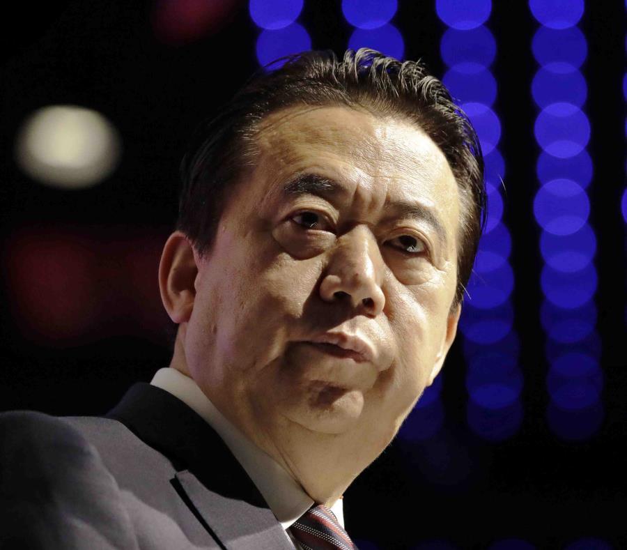 El expresidente de la Interpol, Meng Hongwei, participa en un evento en Singapur. (AP) (semisquare-x3)