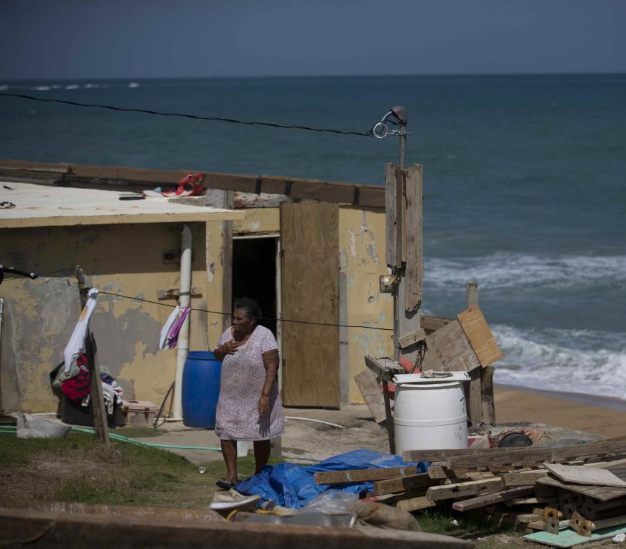 En la foto una casa destruida por el huracán en Yabucoa (semisquare-x3)